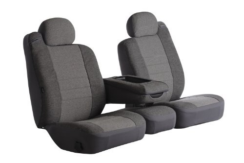 Fia OE37-6 GRAY Custom Fit Front Seat Cover Split Seat 60/40 - Tweed, (Gray) (1996 Ford Ranger Seat Covers compare prices)