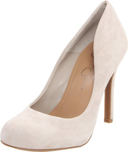 Jessica Simpson Women's Calie Pump,Ecru Kid Suede,8 M US