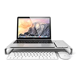 Satechi Aluminum High Quality Universal Aluminum Unibody Monitor / Laptop / iMac / PC Stand (Silver)