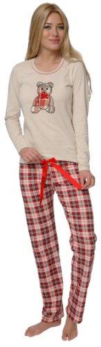 Italian Fashion IF Damen Pyjama Dominica 0223 (Beige, XS)