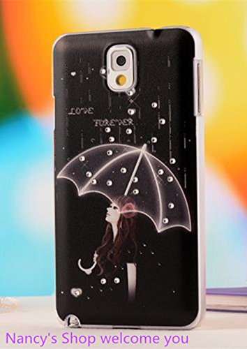 Nancy'S Shop Colorful Painting 3D Hard Cell Phone Accessories Case And Covers For Unlocked Tmobile Samsung Galaxy Note 3 Iii (Umbrella)