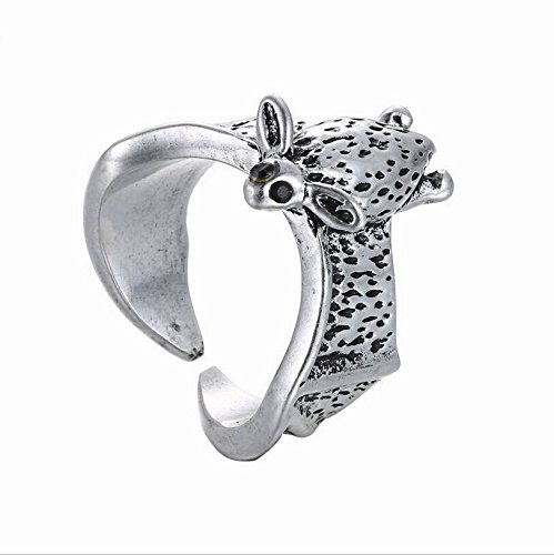 2pcs/lot Fashion Women Men Ring Antique Bat Animal Wrap Ring 2016 Fashion Jewelry Adjustable (Antiqued Silver Color)