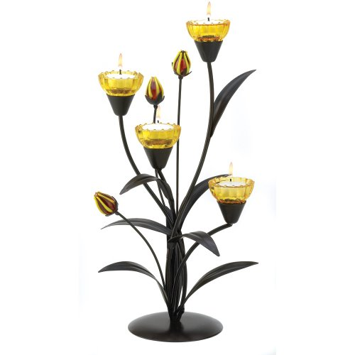 Gifts & Decor Tiger Lily Tealight Candle Holder