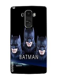 Omnam Batman Face Effect Printed Designer Back Case For LG G4 Stylus