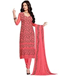 Sonal Trendz Peach Color Embroidered Party Wear Suit
