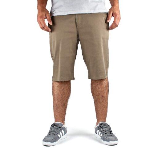LRG Children Of Vision True Straight Mens Chino Shorts in British Khaki, Waist Size 30