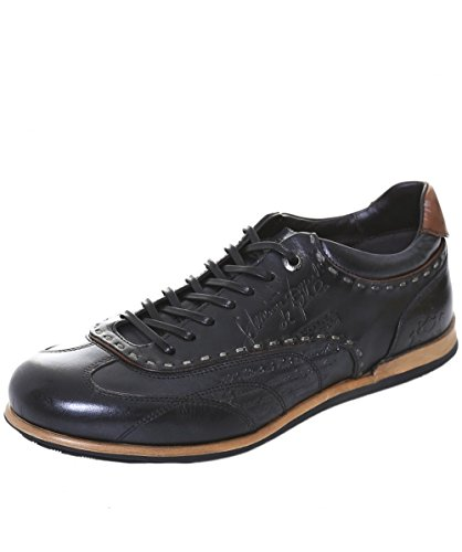 La Martina Uomo Sneaker in pelle Opus 45 Nero