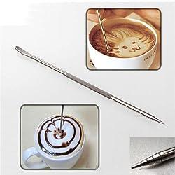 Coffee Latte Art Pen Stainless Steel Tool Espresso Machine Cafe Home Kitchen
