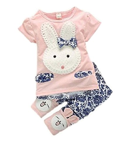 Ragazza Boys per cameretta bambini a forma di coniglio top + pantaloni corti 2 pc uomo Set vestiti