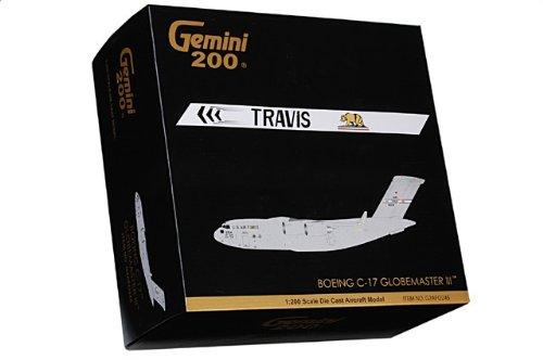 """1:200 ジェミニジェット 200 G2AFO245 マクドナルド ダグラス C-17A Globeマスター III ダイキャスト モデル USAF 60th AMW #06-6154 """"魂 of"""