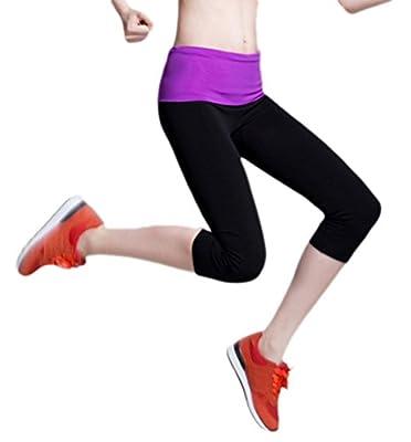 Women's Tights Capri Yoga Running Workout Leggings Pants