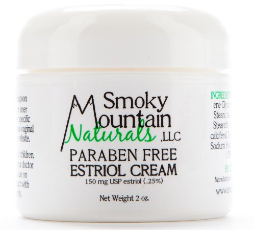 (Paraben-Free) Natural Estrogen/Estriol Cream (Bioidentical and Unscented) 2 Ounce Jar, 150 Mg. (For Wrinkles, Vaginal Dryness, Hot Flashes Mood Swings, and Other Effects of Menopause)