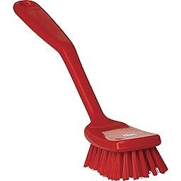 Vikan 30894 Hand-Held Dish Brush, Polypropylene/Polyester Bristle, 10-1/2\