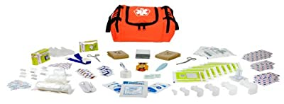 Tactical First Aid Kit: Dixie Ems Dixiegear First Responder Stocked Trauma First Aid Kit, Orange by Dixie Ems