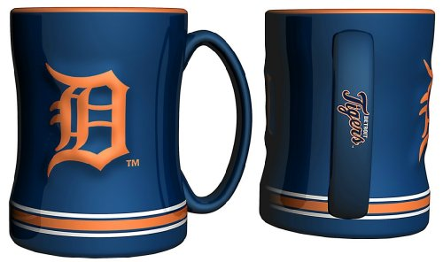 Detroit Tigers Coffee Mug - 15Oz Sculpted, Blue--(Package Of 2)