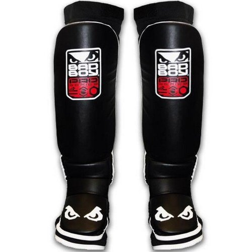 Bad Boy Men's MMA Shin Guard - Black, Small/Medium