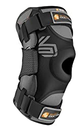 Shock Doctor Adult Ultra Knee Support with Bilateral Hinges, 3X-Large, Black