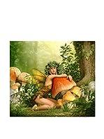 FUNNY BED by MANIFATTURE COTONIERE Panel Decorativo Fairy (Verde/Multicolor)