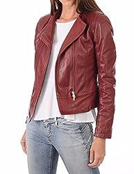 Syedna Maroo Leather N Wome N Biker Jacket
