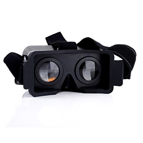 VR Box, YCD VR Cardboard Head Mount Plastic Version 3D VR Case Virtual Reality Video Glasses Headset for iPhone 5 5C 5S SE