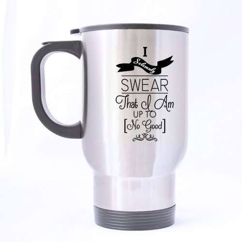 Best Funny Harry Potter - I Solemnly Swear That I Am Up To No Good Theme - 100% Stainless Steel Material Travel Mug Cup - 14Oz Sizes