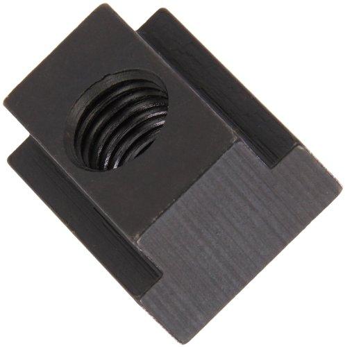 1018 Steel T-Slot Nut, Black Oxide Finish, Grade 8, Tapped Through, 1/2