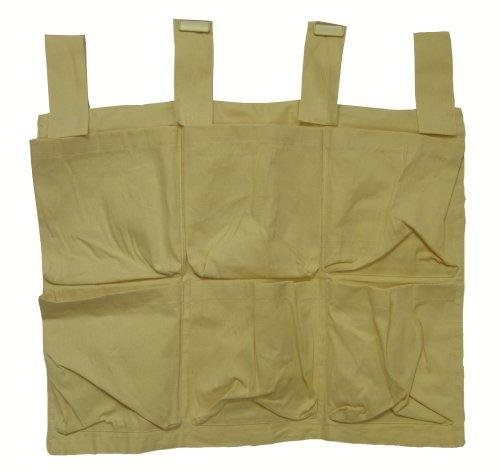 Bruin Baby Canvas Cotton Cot Tidy Nursery Bedroom Storage 6 Pockets