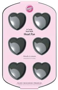 Wilton 6-Cavity Nonstick Heart Mini Cake Pan