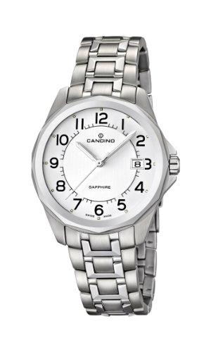 Candino C4491/1 - Reloj analógico de cuarzo para hombre con correa de acero inoxidable, color plateado