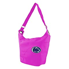 NCAA Pennsylvania State Nittany Lions Ladies Color Sheen Hobo Purse, Pink by Littlearth