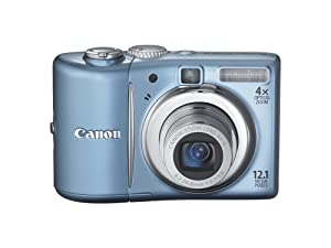 Canon PowerShot A1100IS 12.1 MP Digital Camera with 4x Optical Image Stabilized Zoom and 2.5-inch LCD (Blue) (OLD MODEL)