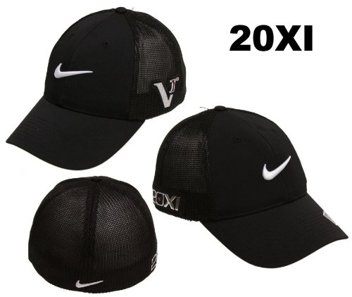 a80be8baaa9 Nike Golf 2011 Tour Mesh Flex Fitted Cap Hat 20XI Victory Red Logo Black    Black S M Review