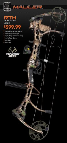 Bear Archery Mauler Ready - to - Hunt Compound Bow Package, RLTR APG, RH 29/70