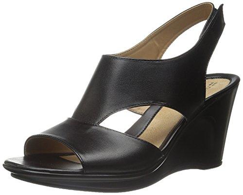 Naturalizer Women's Orrin Wedge Sandal, Black, 8.5 M US (Naturalizer Womens Sandals compare prices)
