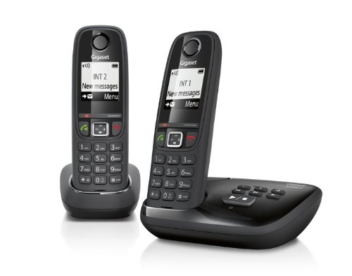 Gigaset AS405A Cordless Phone with Answer Machine (Pack of 2) images