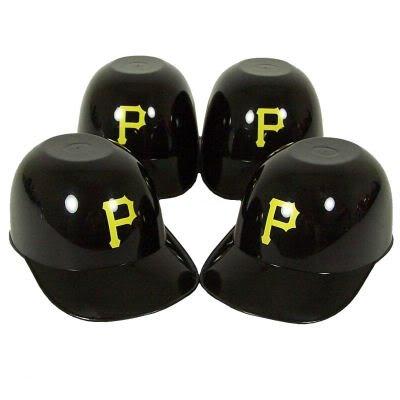 Pittsburgh Pirates Batting Helmet Ice Cream Snack Bowls 4pk