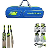 New Balance Combo Of Cricket Kit Bag & DC480 Kashmir Willow Cricket Bat & DC 480 Batting Gloves (Multicolor)