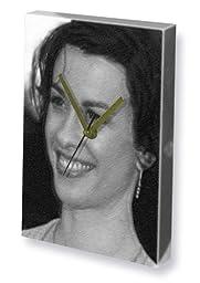 ALANIS MORISSETTE - Canvas Clock (A4 - Signed by the Artist) #js002