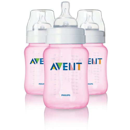 Philips Avent 9 Ounce Bpa-Free Bottles - 3 Pack, Pink