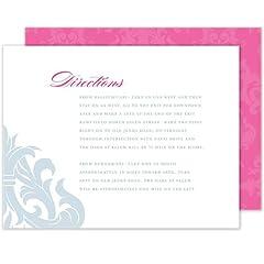 Damask Wedding Direction Card