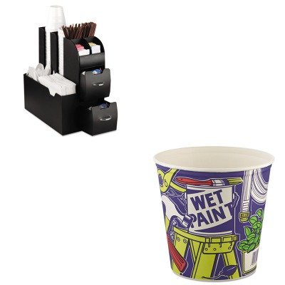 KITEMSCAD01BLKSLO10T1UU - Value Kit - Solo Double Wrapped Paper Bucket (SLO10T1UU) and Ems Mind Reader Llc Coffee Organizer (EMSCAD01BLK)