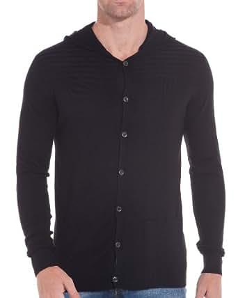 BLZ jeans - Gilet à capuche boutonné - couleur: Noir - taille: S