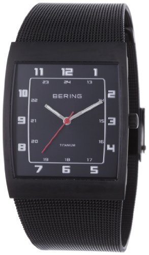 BERING Time Men's Classic Collection Watch with Mesh Band and super hardened mineral glass. Designed in Denmark. 11233-222 by Bering