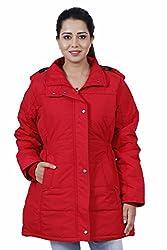 Hiver Women's Nylon Jacket (Red, XXL)
