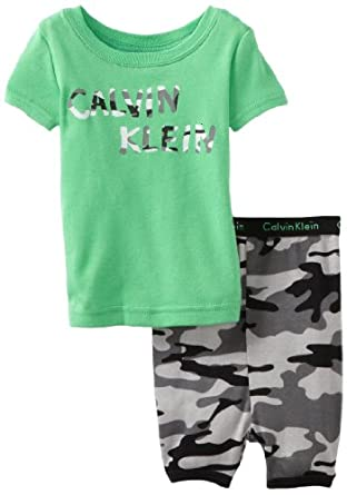 Calvin Klein Baby-Boys Infant CK Set B, Green, 12 Months