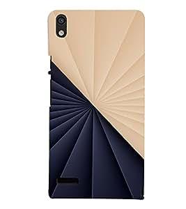 PrintVisa Modern Art Symmetrical Pattern 3D Hard Polycarbonate Designer Back Case Cover for Huawei Acend P6