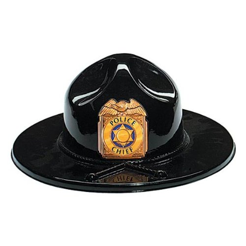 Black Plastic Trooper Hat Party Accessory (1 count)