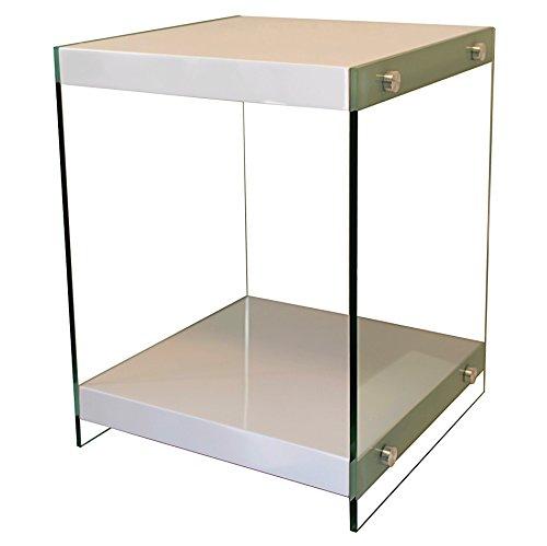 bonVIVO-Designer-Couchtisch-Stella-Beistelltisch-in-moderner-Glas-Holz-Kombination-wei-Hochglanz-lackiert