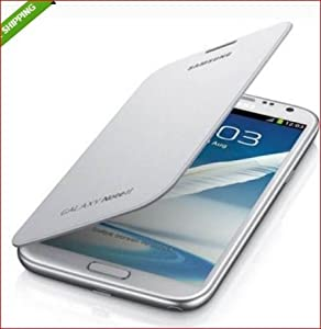 Mono Flip Cover For Samsung Galaxy Note 2  White  available at Amazon for Rs.109