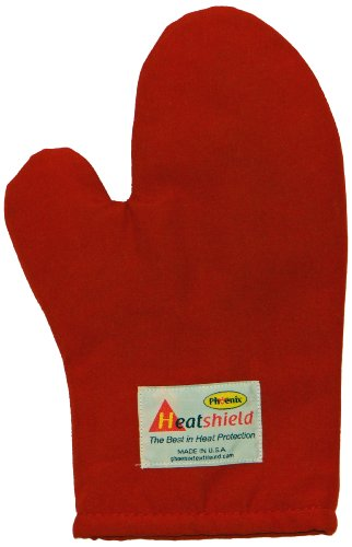 Phoenix 13-Inch Conventional Oven Mitt, Red Heatshield, 2-Pack back-535821